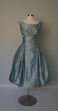 Beautiful 1950s Harvey Berin Aqua Seafoam Blue by KittyGirlVintage