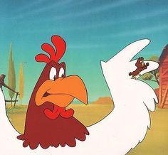 FOGHORN-LEGHORN-Henery-Hawk-Looney-Tunes-1987-production-cel-COA-Warner-Brothers