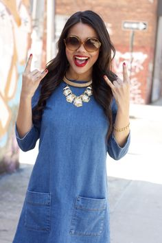 of Harlow 1960 Perry Geometric Necklace, Chocker, Sunnies, Mango, Topshop, Street Style, Lifestyle, Denim, House