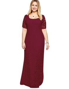 2017 Women sexy lace evening party elegant long dress of plus size 2XL-9XL big size dress short sleeve clothing