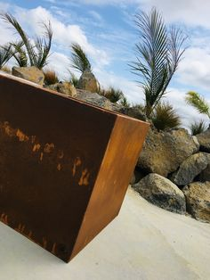 Our unique Tinyanvil powder coated and corten steel planters are a must for the discerning outdoor design aficionado. Corten Steel Planters, Metal Planters, Planter Pots, Gallery, Outdoor Decor