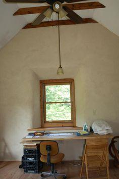 Scot & Linda's strawbale/cob/cordwood home (design by sigi koko).