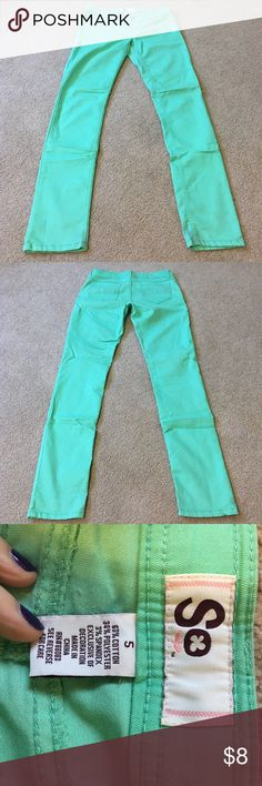 Mint jeggings Only worn a couple times. A few marks on ankles, shown in last picture. Should come out in wash. Pants Skinny