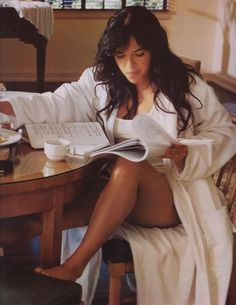 Michelle Rodriguez is one bad ass female that needs her cup of coffee every morning!