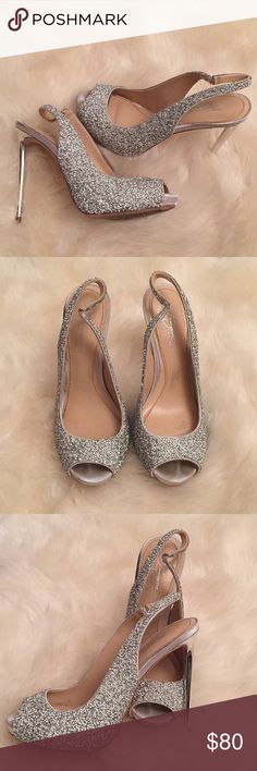 Vince Camuto Imagine Sparkly Silver Wedding Shoes Vince Camuto Imagine Sparkly Silver Wedding Shoes Great Condition Vince Camuto Shoes Sandals