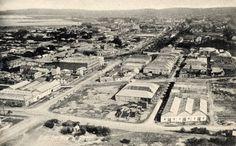 Birds Eye-View of Old Durban Durban South Africa, Kwazulu Natal, Birds Eye View, Historical Society, Historical Photos, East Coast, Lions, City Photo, River