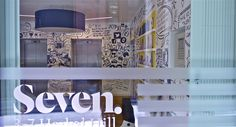 Reception mural for Seven, London by Christopher Lockwood August 2012