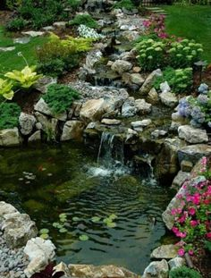 Landscaping And Outdoor Building , Relaxing Waterfalls Backyard Ponds : Small Waterfalls Backyard Ponds