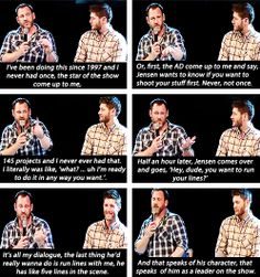[gifset] Ty Olsen giving praise to Jensen and his character as a person and a leader! <3 Warms my heart <3 #Jensen #TyOlsen
