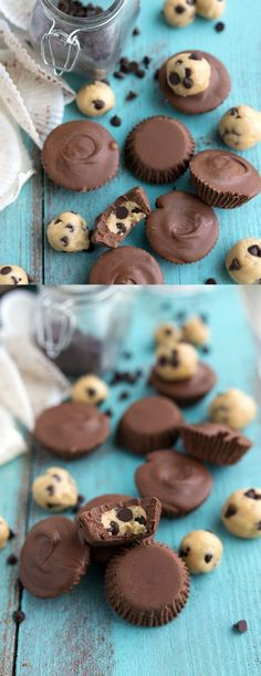 FUN RECIPES FOR DESSERT NO-BAKE COOKIE DOUGH CHOCOLATE CUPS - dessert, food, recipes