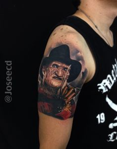 Freddy Krueger tattoo by Jose Contreras #freddykrueger #freddy #krueger #tattoo