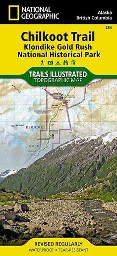 National Geographic Trails Illustrated Map Chilkoot Trail / Klondike Rush NHP: Alaska, USA: British Columbia...