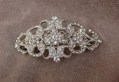 Bridal Rhinestone Hair Barrette / Wedding Hair Clip / by lyndahats, $24.00