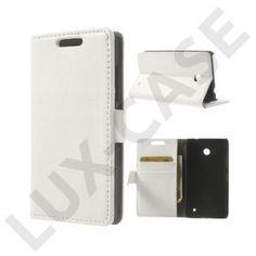 Wall Street (Hvid) Nokia Lumia 630/635 Læder Flip Etui