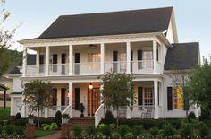 Southern style home with wide covered verandas