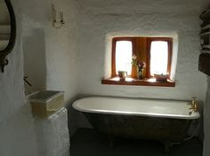 cob house bathroom
