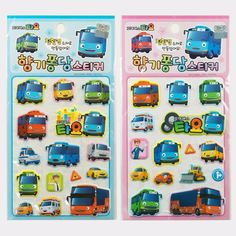 Tayo #TheLittleBus #Children #Sticker 4pcs Set #Korea #TV #Animation #Character #Tayo