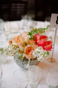 #peony #centerpiece Photography by dlweddings.com Read more - http://www.stylemepretty.com/2013/09/06/new-york-city-wedding-from-divine-light-photography/