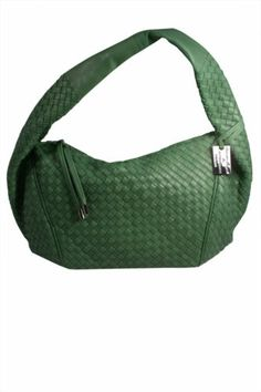 c1f5bf58e2 AJM Fashions  Bottega Giotti Green Nappa Leather Woven Large Hobo Handbag  Leather Workshop