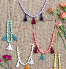 DIY Kids' Moroccan Tassel Necklace