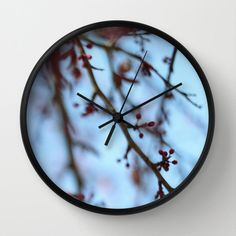 Tree Blooms Clock - Wall Clock - Nature Photo - Made to Order (60.00 USD) by ShelleysCrochetOle