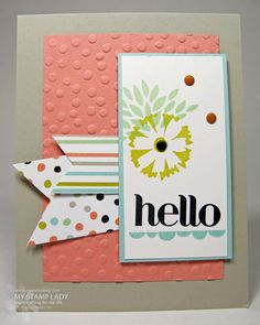 Soft hello SAB by cmstamps - Cards and Paper Crafts at Splitcoaststampers