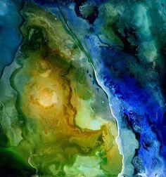"Saatchi Online Artist Katherine Smith-Schad; Painting, """"Satelite View"" Limited Edition 1/50  float metal print"" #art"