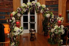 Floral Design, Decor & Centerpieces: Flower Arch Candles by MME Event Design & Productions. mmeentertainment.com. Call us now: 877.885.0705 | 212.971.5353