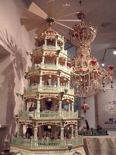 German nativity pyramid.  The fan turns and spins the pyramid when you light the candles.  Lots of fun!