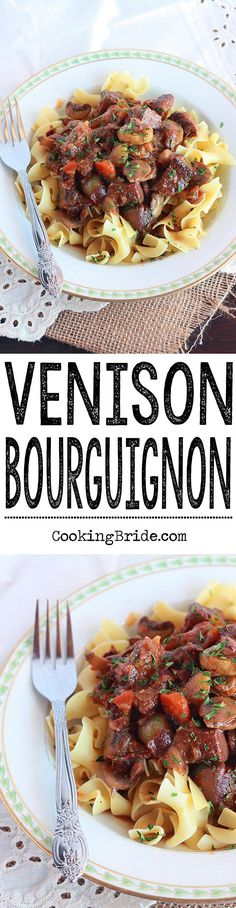 Running out of ideas for deer meat recipes? This venison recipe is a Southern remake of Julia Child's most famous dish -- bourguignon. It's rich and hearty and perfect for a chilly winter night.