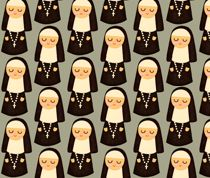 Nuns on grey by Heidikenney/My Paper Crane