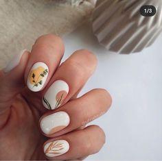 Subtle Nail Art, Neutral Nail Art, Oval Nail Art, Neutral Nail Designs, Classy Nail Designs, Simple Nail Art Designs, Oval Nails, Best Nail Art Designs, Short Nail Designs