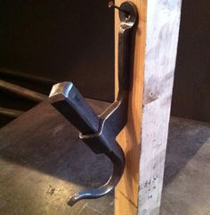 """Hook No.30 #366hooks started with 1"""" sq and 1-1/2x1/4 stock. This one took way…"""