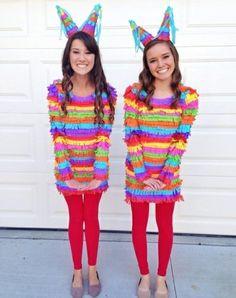 diy kleidung karnevalskostüme bunte pinatas