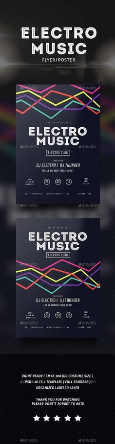 Electro Musik Flyer & Poster Template PSD #design Download: http://graphicriver.net/item/electro-musik-flyer-poster/14526283?ref=ksioks