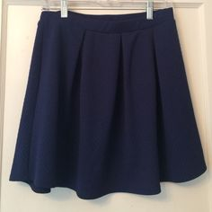 Urban outfitters Navy textured skater skirt size M Brand is Gibson. I think my sister got it at urban outfitters. Does not look like it has ever been worn. Urban Outfitters Skirts Circle & Skater