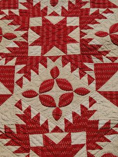 vintage quilt of fab old red design!! fab folded over a chair or sofa at Christmas!!