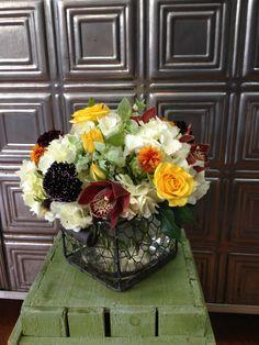 Hydrangea, spray roses, cosmos Small arrangement