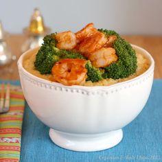 BBQ Shrimp, Broccoli & Cheesy Quinoa Bowls - Cupcakes & Kale Chips