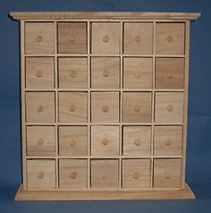 Wooden-25-Drawer-Advent-Spice-Chest-to-paint-yourself