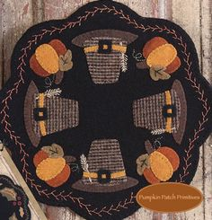 Folkart Penny Mats - November Pumpkin Patch Primitives