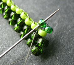 Flat Brick Stitch   #Seed #Bead #Tutorials