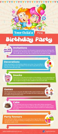 Your Child's First Birthday Party   Stay at Home Mum