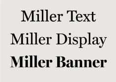 Text, display and banner book font example