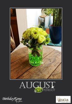 August's Birthday Gem is Peridot!