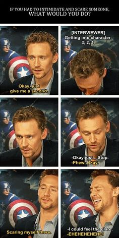 """Tom Hiddleston, How Are You """"Loki"""" Yet So Adorable? <---- Because while being the most adorable and desirable man alive, he is a most amazing actor. I also may be obsessed with how amazing he is. Marvel Dc, Marvel Comics, Marvel Memes, Avengers Humor, Marvel Actors, Tom Hiddleston Loki, Thomas William Hiddleston, Chris Hemsworth, Marvel Universe"""