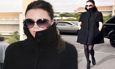 The cape has been all the rage this season - as perfectly demonstrated by Victoria Beckham. The stylish designer looked her usual glamourous self in the fashion must-have, which she described on Twitter as her 'favourite winter coat'.