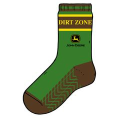 John Deere Boys Dirt Zone Crew Sock
