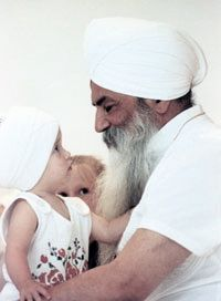 "YogiBhajan-1992  ""Raise children with enough love, sophistication, care and security, and give them such intuitiveness and love that they will be proud of their identity and their intelligence; they will never play games."" - Yogi Bhajan"