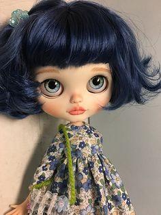 blythe doll custom for love por lodellalody Ooak Dolls, Blythe Dolls, Art Dolls, Moda Lolita, Cute Baby Dolls, Gothic Dolls, Valley Of The Dolls, Creepy Dolls, Custom Dolls